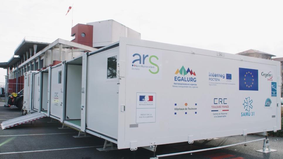 EGALURG facilita la construcción y despliegue de la UMPEO, instalación innovadora para la asistencia en emergencias en regiones transpirenaicas
