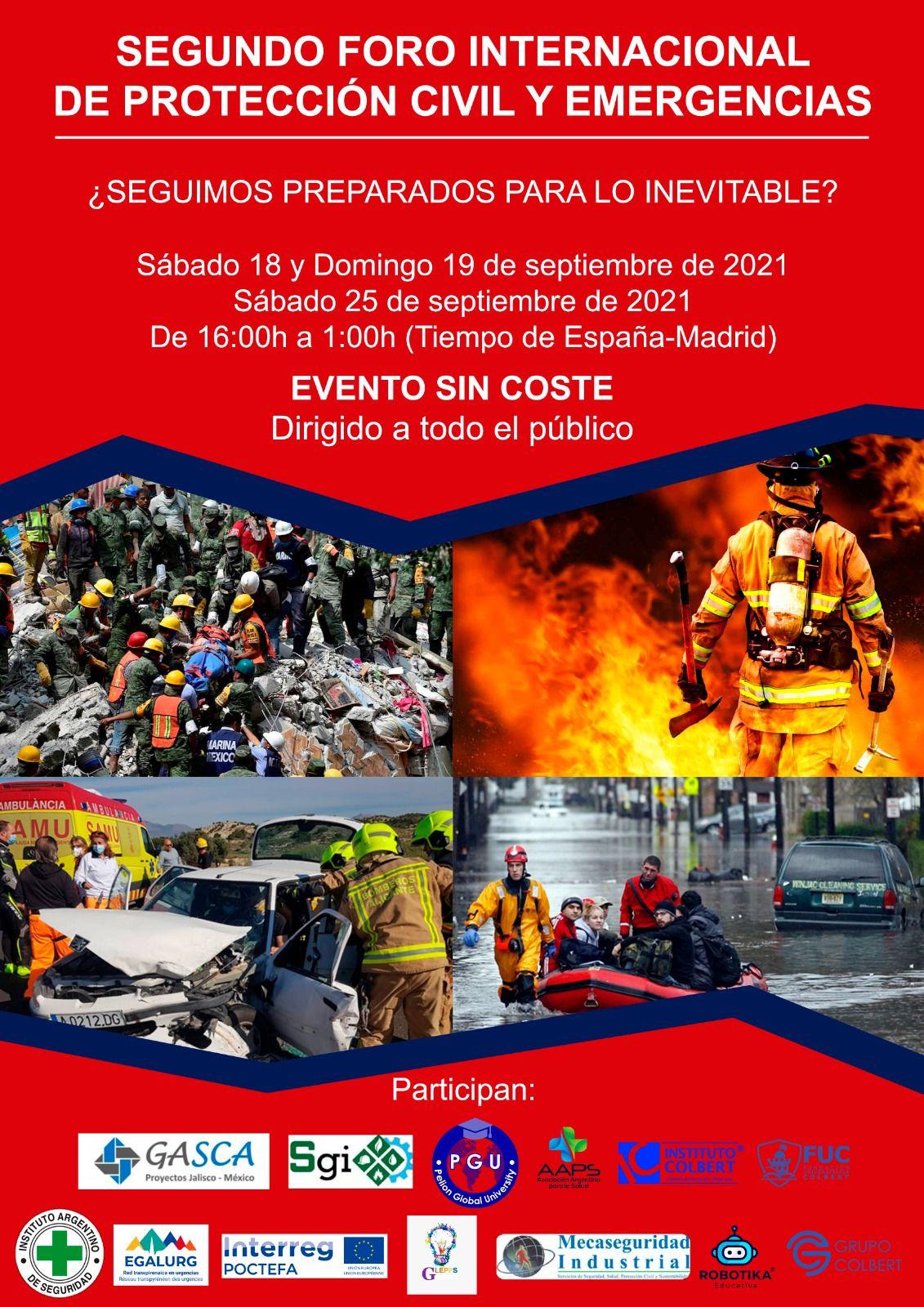 segundo foro internacional proteccion civil y emergencias